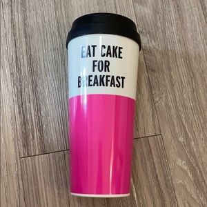Kate Spade coffee tumbler Eat Cake For Breakfast